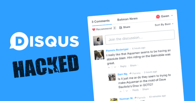 disqus comment hacked