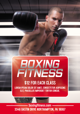 boxing fitness flyer